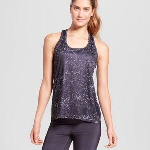 Athleta X's and O's Speckle Racerback Tank Top Sm